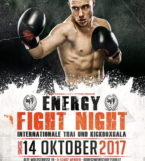Sportschule Jung Wuppertal - K-1 Boxen Thaiboxen Kickboxen Event Energy Fight Night 2017